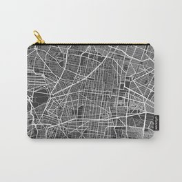 Mexico City Map, Mexico - Gray Carry-All Pouch