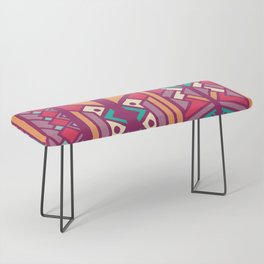 Tribal ethnic geometric pattern 001 Bench