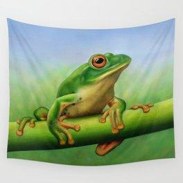 Moltrecht's Green Treefrog Wall Tapestry