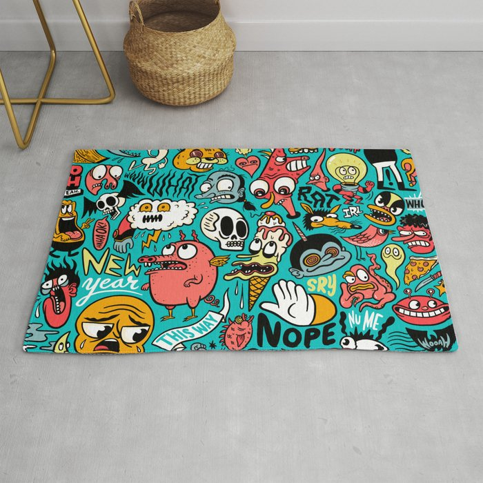2019 New Year Pattern Rug