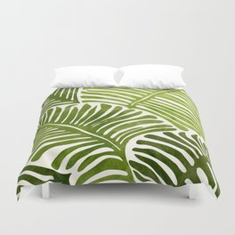 Summer Fern / Simple Modern Watercolor Duvet Cover