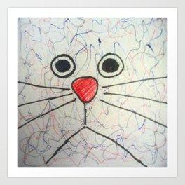 Blockhead # 6 - AKA Cat Art Print