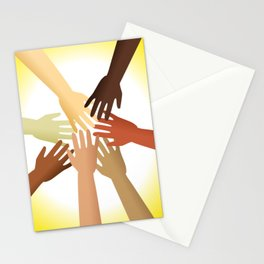 Diverse Hands Stationery Cards