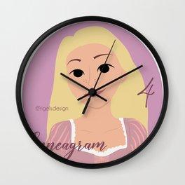 Enneagram 4 Rapunzel Wall Clock