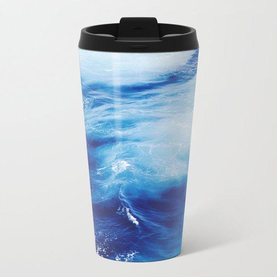 Blue Ocean Water Waves Metal Travel Mug