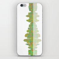 kansas city iPhone & iPod Skins featuring Kansas City Skyline by Marlene Watson