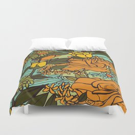 retro garden Duvet Cover