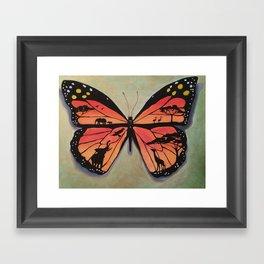 Butterfly safari Framed Art Print