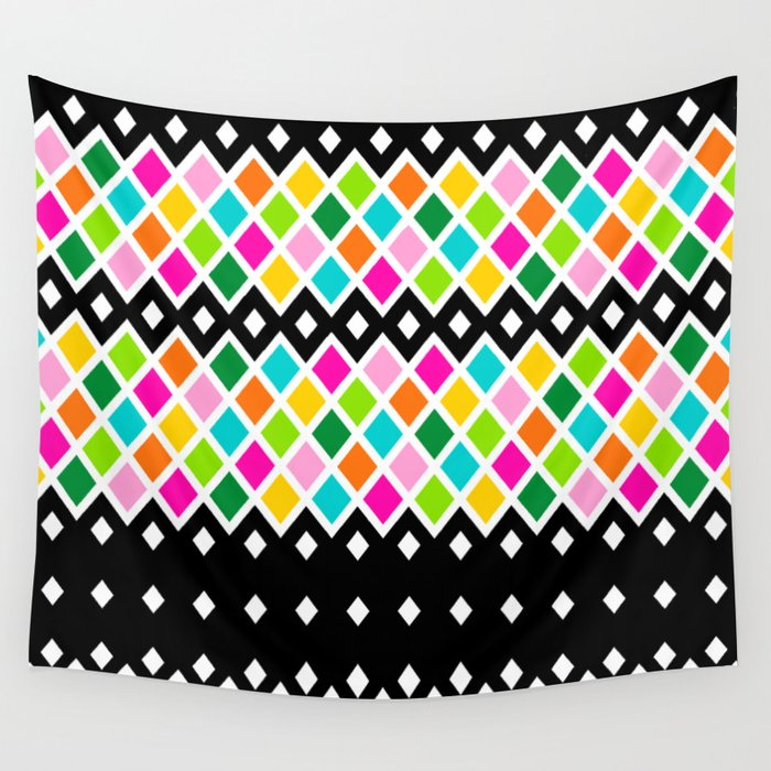 DIAMOND - Black Wall Tapestry