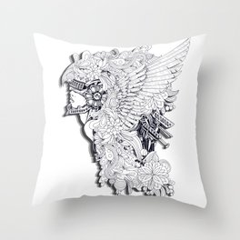 Sikelgaita Lombard Princess in Armor; Adult Coloring  Throw Pillow