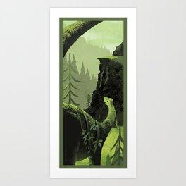 Dinosaur Roaming Art Print