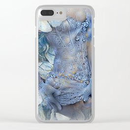FLORAL AND LACE Clear iPhone Case
