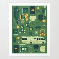 breaking bad Art Prints featuring Breaking Bad by Tracie Andrews