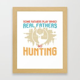 Father Hunter Hunting Father's Day Papa Bingo Framed Art Print
