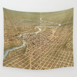 Vintage Pictorial Map of Spokane Washington (1905) Wall Tapestry
