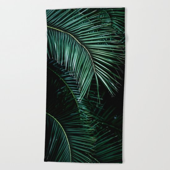 Palm Leaves 9 Beach Towel