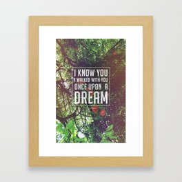 Once upon a dream Framed Art Print
