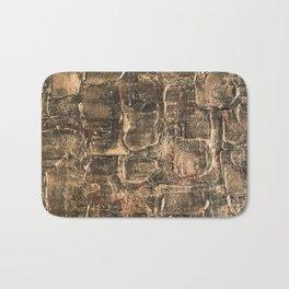 Textured Bronze Gold Metal Painting on Canvas Bath Mat