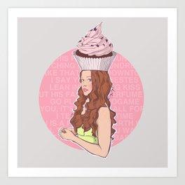 Cupcake Girl Art Print