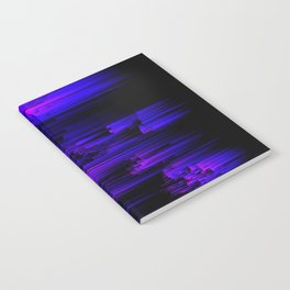 Ultraviolet Light Speed - Abstract Glitch Pixel Art Notebook
