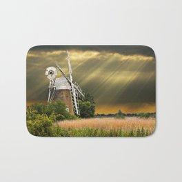 windmill with sunbeams Bath Mat