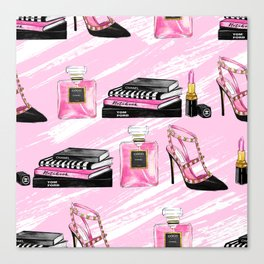 Perfume & Shoes Canvas Print
