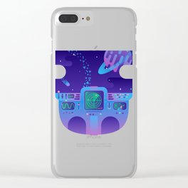 Cosmic Journey Clear iPhone Case