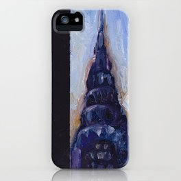 Subway Card Chrysler Building No. 9 iPhone Case