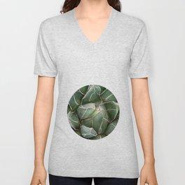 Cactus Succulent Plant art Modern art Scandinavian circle Unisex V-Neck