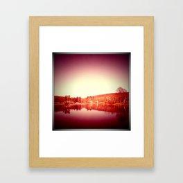 sunset moon. Framed Art Print