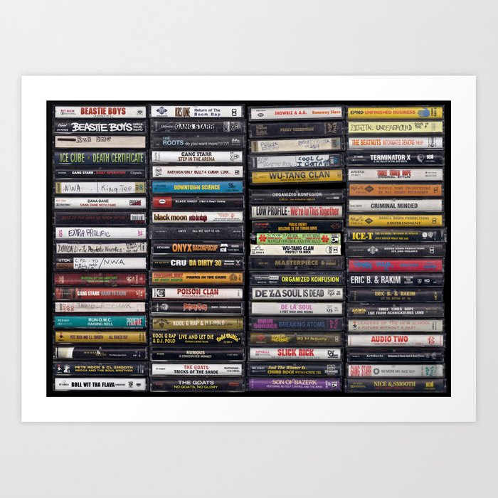 Old 80's & 90's Hip Hop Tapes Kunstdrucke