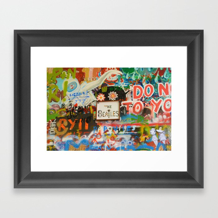 A moment with a Beatle Framed Art Print