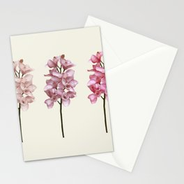 Three tones orchids Stationery Cards