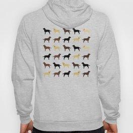 Labrador Retriever Dog Silhouettes Pattern Hoody