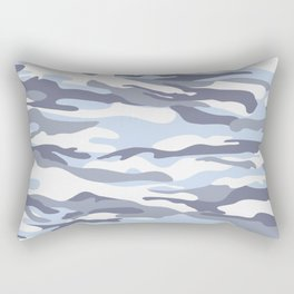 Pastel Blue Dusk Surprise Camo Rectangular Pillow