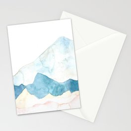 silver mountains Stationery Cards
