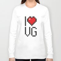 video games Long Sleeve T-shirts featuring PAUSE – I Love Video Games by PAUSE