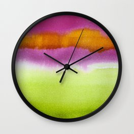 Popsicle- watermelon, cherry, orange Wall Clock