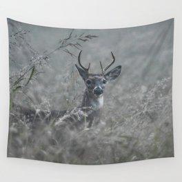 Foggy Morning Buck Wall Tapestry