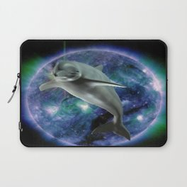 Space dolphin Laptop Sleeve