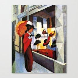 August Macke The Hat Shop Canvas Print