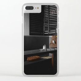 Lonely Lady Clear iPhone Case