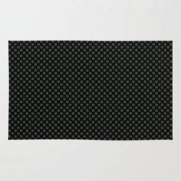 Black and Duffel Bag Polka Dots Rug