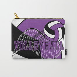 Volleyball Sport Game - Net - Purple Carry-All Pouch