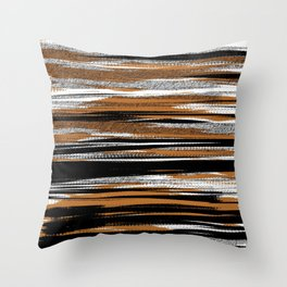 Streaked_Ochre Splash Throw Pillow
