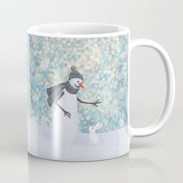 snowman and white rabbit Coffee Mug