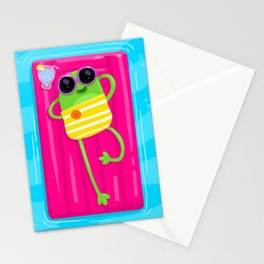 Lazy Frog Stationery Cards
