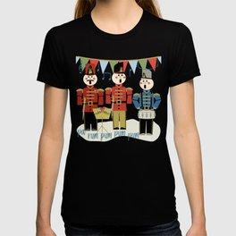 Holiday Wooden Toy Soldiers Singing Christmas Carols Pa Rum Pum Pum Pum T-shirt