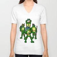 teenage mutant ninja turtles V-neck T-shirts featuring Teenage Mutant Ninja Turtles by beetoons