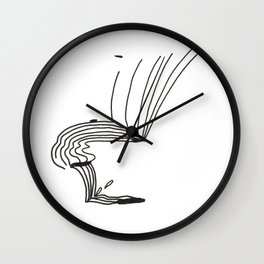 Lines That Fall Wall Clock